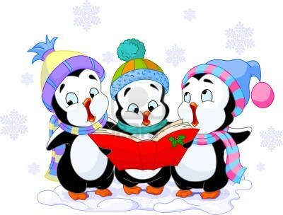 3885943-cute-cartoon-penguins-singing-christmas-carols ...