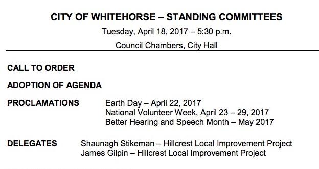City Council Meeting April 18th